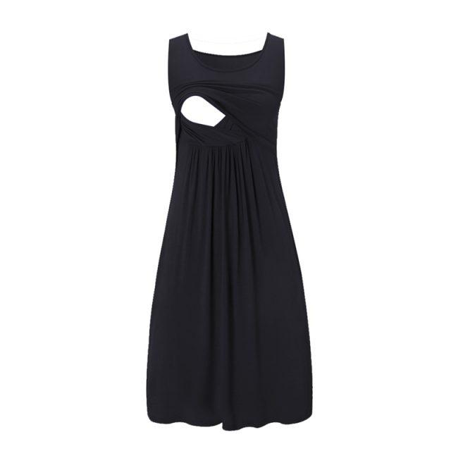 Sleeveless Casual Nursing Dress